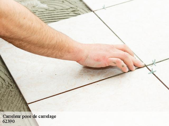 Carreleur pose de carrelage  62390