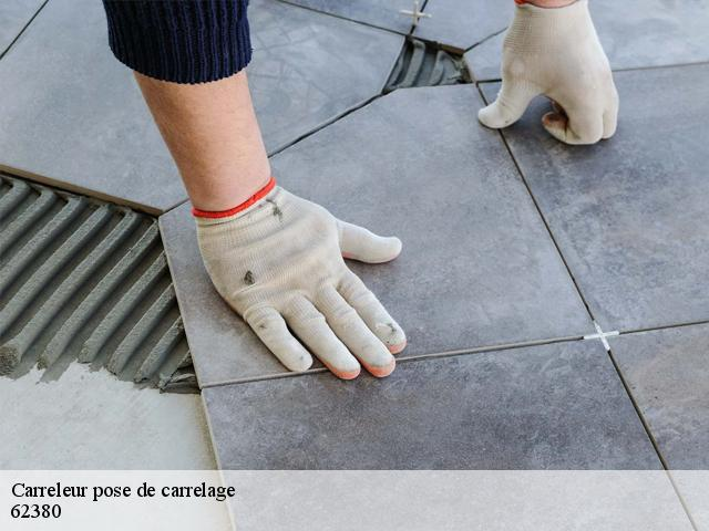 Carreleur pose de carrelage  62380